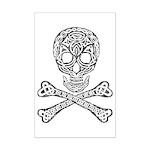 Celtic Skull and Crossbones Mini Poster Print