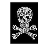 Celtic Skull and Crossbones Postcards (Package of