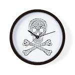 Celtic Skull and Crossbones Wall Clock