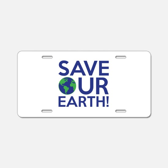 Save Our Earth Aluminum License Plate