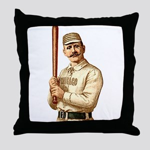 Vintage Chicago Player Throw Pillow