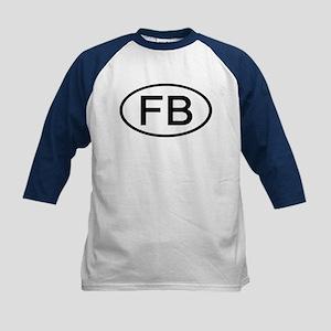 FB - Initial Oval Kids Baseball Jersey