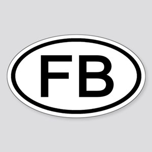 FB - Initial Oval Oval Sticker