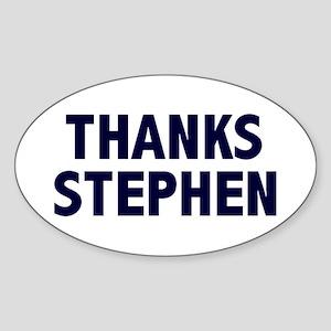 Thanks Colbert Oval Sticker