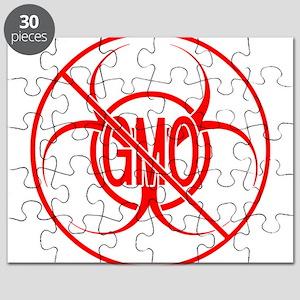 NO GMO Biohazard Warning Toxic Food Sign Puzzle