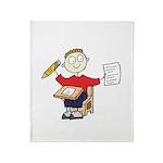 School Boy Throw Blanket