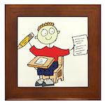 School Boy Framed Tile