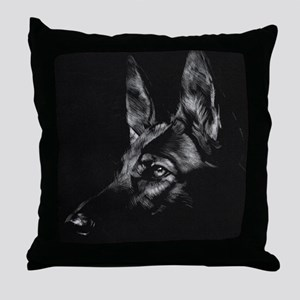 Dramatic German Shepherd Throw Pillow