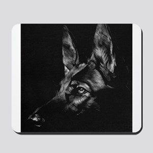 Dramatic German Shepherd Mousepad