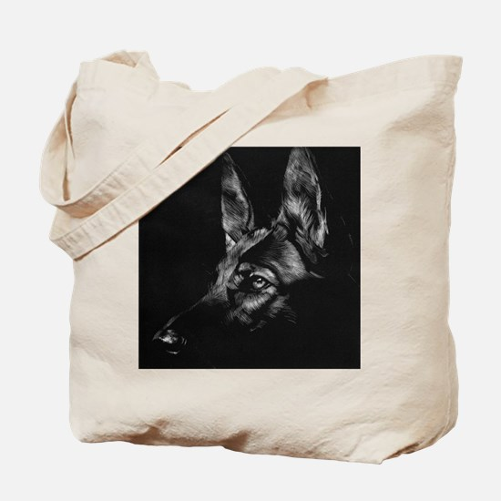 Dramatic German Shepherd Tote Bag