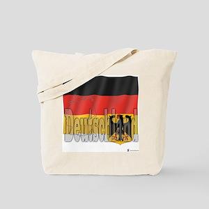 Silky Flag of Deutschland Tote Bag
