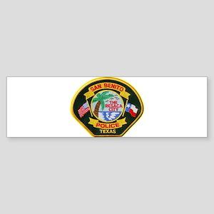 San Benito Police Sticker (Bumper)