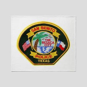 San Benito Police Throw Blanket