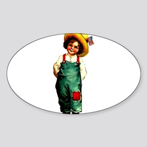 American Girl 1 Sticker (Oval 10 pk)