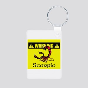 Warning: Scorpio Aluminum Photo Keychain
