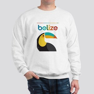 Belize Vintage Travel Poster with Toucan Sweatshir