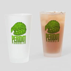 PERIDOT PANGOLIN Drinking Glass