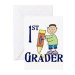 1st Grade Boy Greeting Cards (Pk of 10)