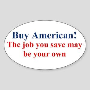 Buy American Sticker (Oval)