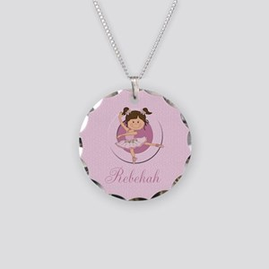 Cute Ballerina Ballet Gifts Necklace Circle Charm