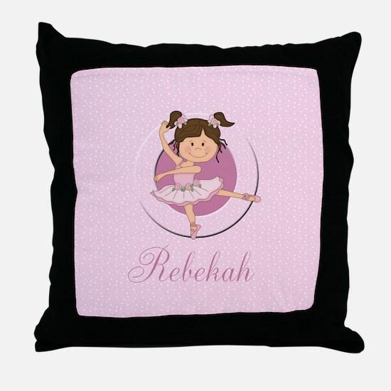 Cute Ballerina Ballet Gifts Throw Pillow