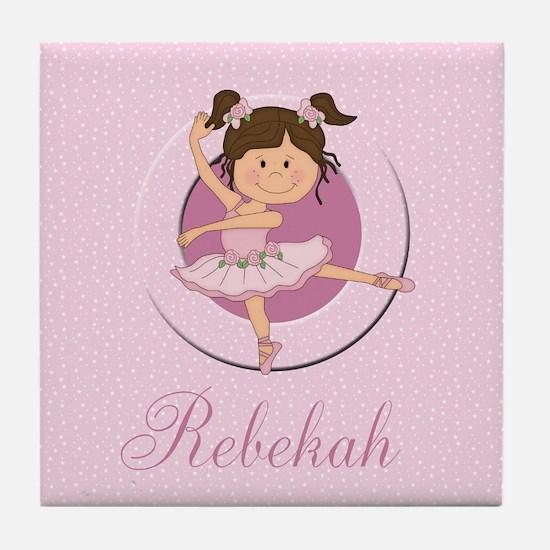Cute Ballerina Ballet Gifts Tile Coaster