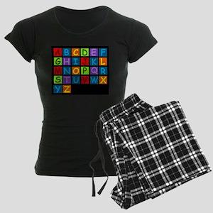 Rainbow ABC's Women's Dark Pajamas