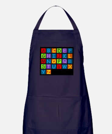 Rainbow ABC's Apron (dark)