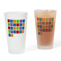 Rainbow ABC's Drinking Glass