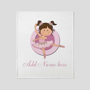 Cute Ballerina Ballet Gifts Throw Blanket
