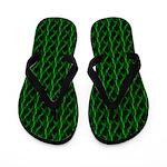 Green Lightning Flip Flops