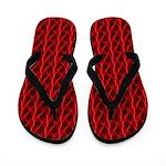Red Lightning Flip Flops