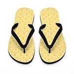 Yellow Cheese Flip Flops