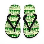 Green Stadium Flip Flops