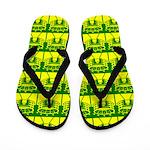 Yellow Stadium Flip Flops