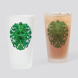 Green Man Gaze Drinking Glass