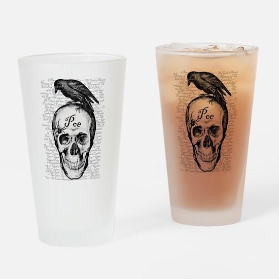 Raven Poe Drinking Glass