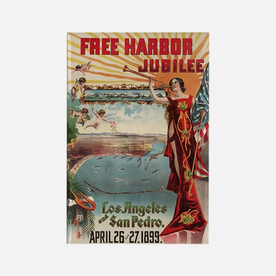1899 Free harbor jubilee, Los Rectangle Magnet