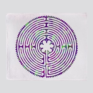 Chartres Labyrinth Bubble Throw Blanket