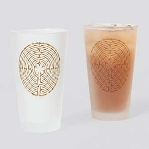 Chartres Labyrinth Pearl Drinking Glass