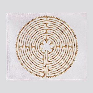 Chartres Labyrinth Pearl Throw Blanket