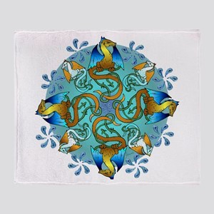 Bornholm Blues Throw Blanket
