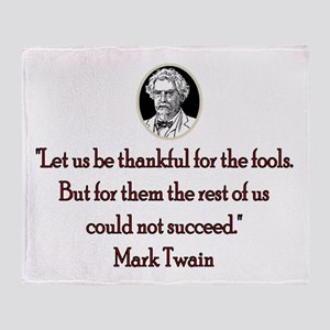 Mark Twain Fools Throw Blanket