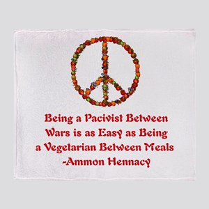 Pacifist Quote Throw Blanket