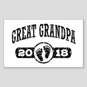 Great Grandpa 2018 Sticker (Rectangle)
