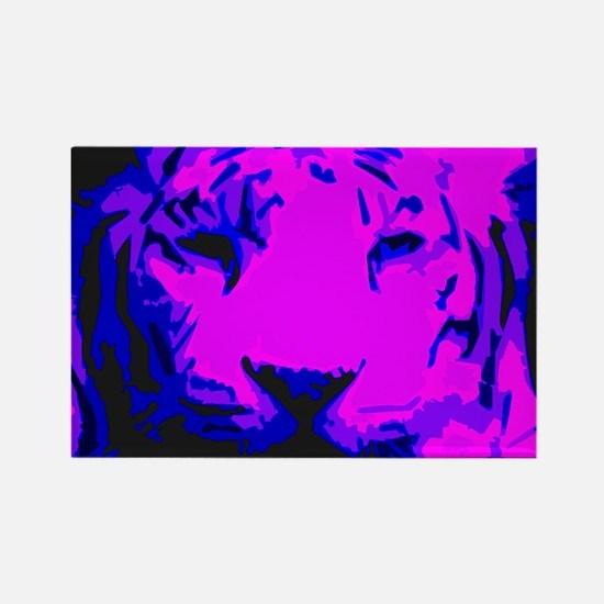 Tiger Face Rectangle Magnet