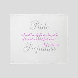 Jane Austen Pride Quotes Hous Throw Blanket