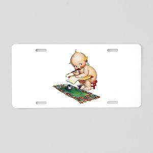 Kewpie Poet Aluminum License Plate