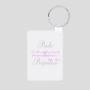 Jane Austen Pride Quotes Pape Aluminum Photo Keych