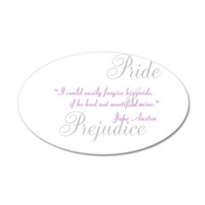 Jane Austen Pride Quotes Pape 22x14 Oval Wall Peel